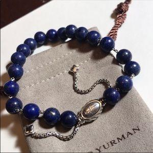 David Yurman Spiritual Beaded Blue Lapis Bracelet